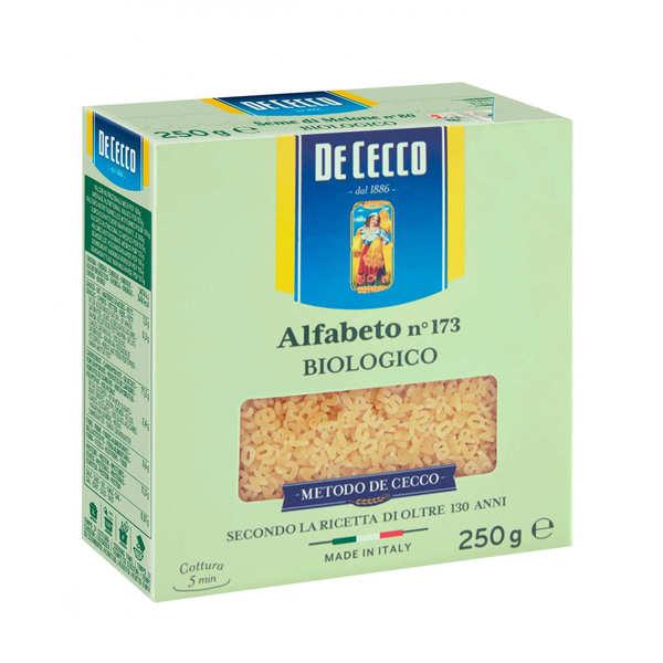 De Cecco Pâte alphabet bio n°173 De Cecco - 12 sachets de 250g