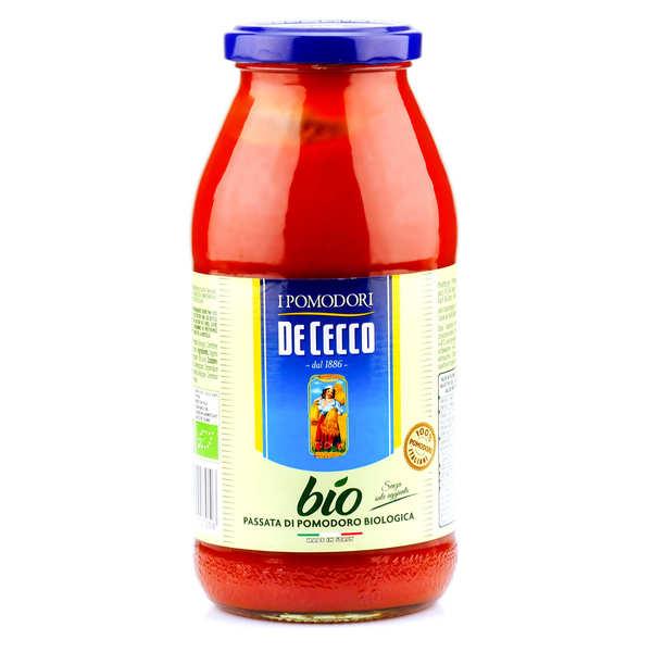De Cecco Coulis de tomate bio De Cecco - Passata di Pomodoro - 3 bocaux de 520g