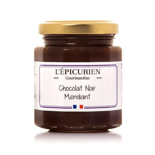 L'épicurien Pâte à tartiner chocolat noir mendiant - Le pot 191ml