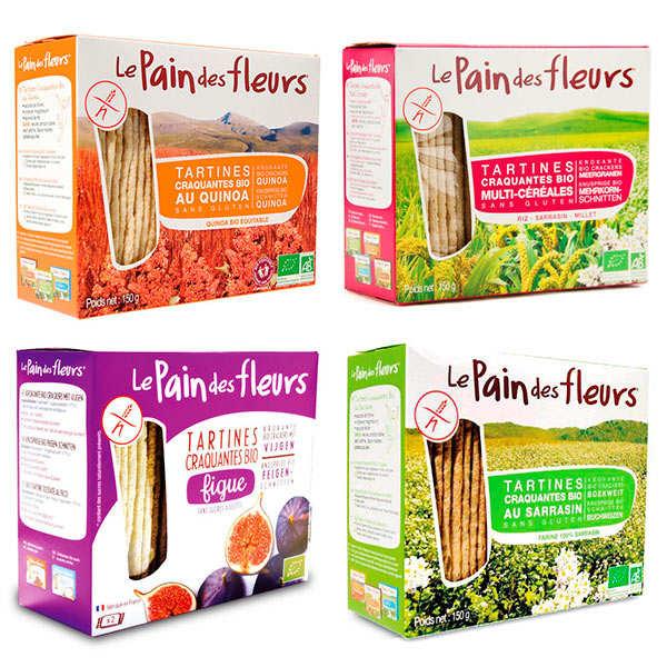 Le pain des fleurs Lot découverte Le Pain des Fleurs bio et sans gluten - 4 paquets de 150g