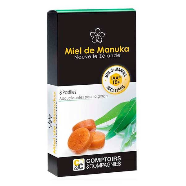 Comptoirs et Compagnies Pastilles pur miel de manuka IAA 10+ et eucalyptus - Lot de 3 boites de 8 pastilles