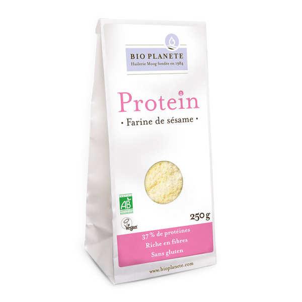 BioPlanète Farine de sésame bio sans gluten et vegan - Gamme Protéin - 4 sachets de 250g