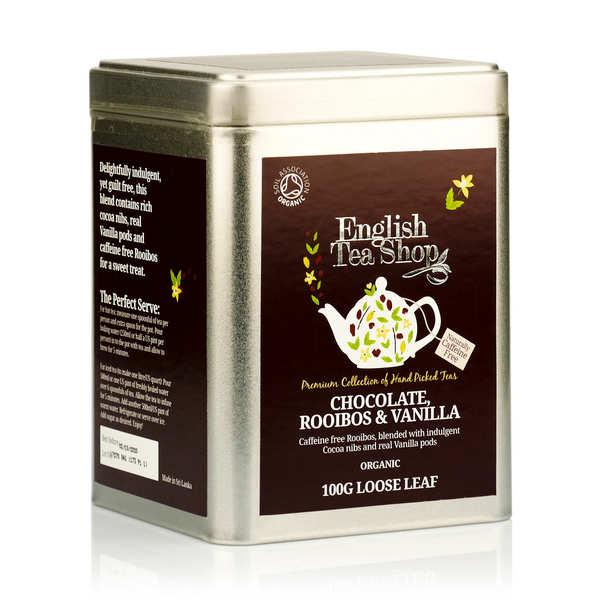 English Tea Shop Thé rooibos chocolat et vanille bio - Boite vrac - Boîte éco-conçue origami 80g
