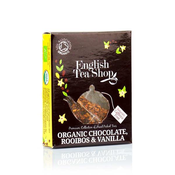 English Tea Shop Thé rooibos chocolat et vanille bio - sachet individuel - Le sachet pyramide