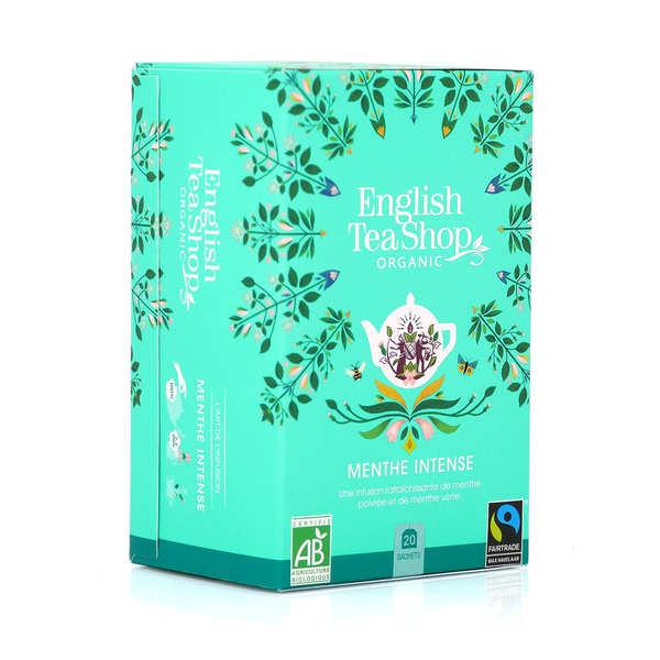English Tea Shop Infusion de menthe intense bio en sachets - Boite 20 infusettes