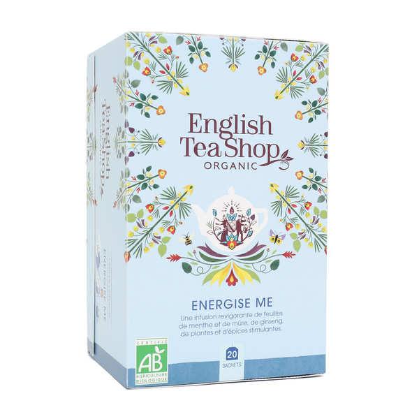 English Tea Shop Infusion Energise me bio en sachets - Boite 20 infusettes