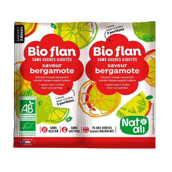 Nat-Ali Bio Flan parfum bergamote sans sucres ajoutés - Lot de 5 x 2 doses de 4g