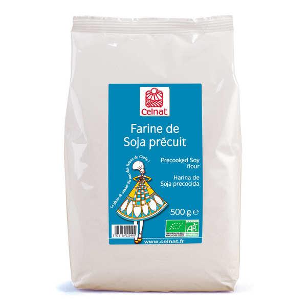 Celnat Farine de soja précuit bio - Sachet 500g