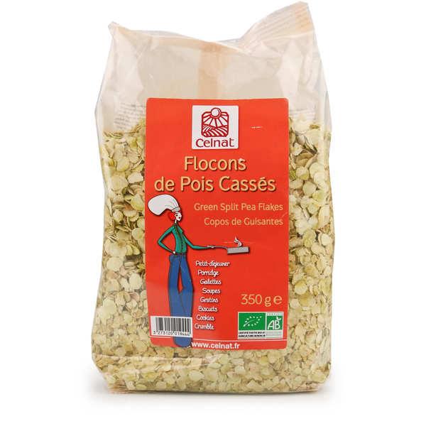 Celnat Flocons de pois cassés bio - Lot de 4 sachets 350g