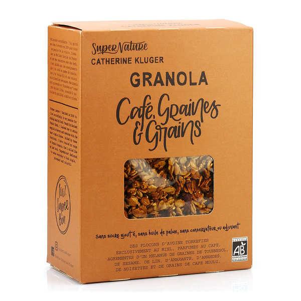 Granola Catherine Kluger Granola au café, graines et grains bio - Boite 350g