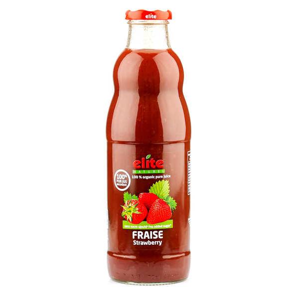 Elitegroup Pur jus de fraise bio - 9 bouteilles de 700ml