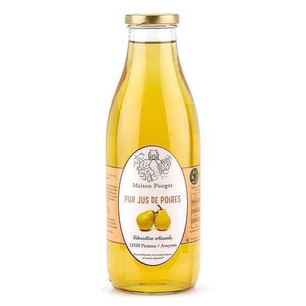 Maison Pouget Pur jus de poires - 3 bouteilles de 1L