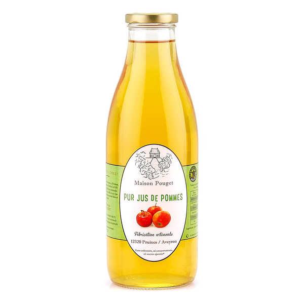 Maison Pouget Pur jus de pommes de l'Aveyron - Lot 3 bouteilles de 1L