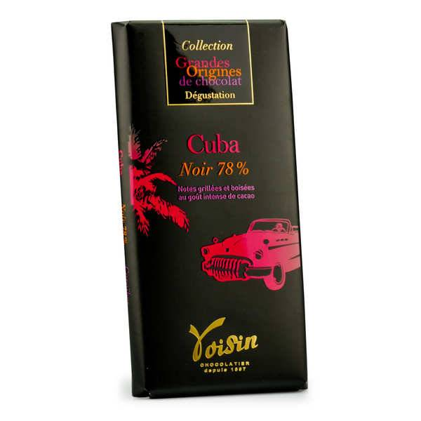 Voisin chocolatier torréfacteur Tablette chocolat noir Cuba 78% - Voisin - 5 tablettes de 100g