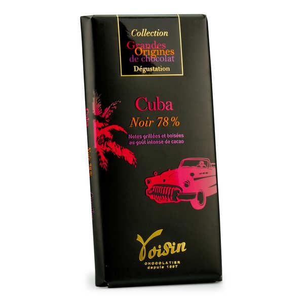 Voisin chocolatier torréfacteur Tablette chocolat noir Cuba 78% - Voisin - 10 tablettes de 100g