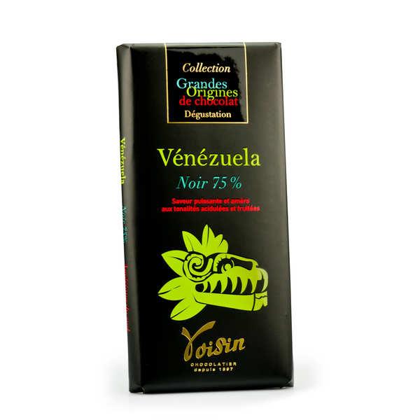 Voisin chocolatier torréfacteur Tablette chocolat noir Vénézuela 75% - Voisin - 10 tablettes de 100g