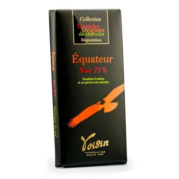 Voisin chocolatier torréfacteur Tablette chocolat noir Equateur 73% - Voisin - 10 tablettes de 100g