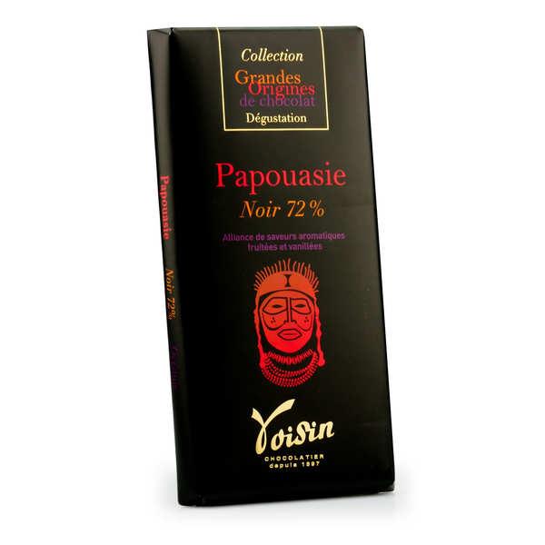Voisin chocolatier torréfacteur Tablette chocolat noir Papouasie 72% - Voisin - 10 tablettes de 100g