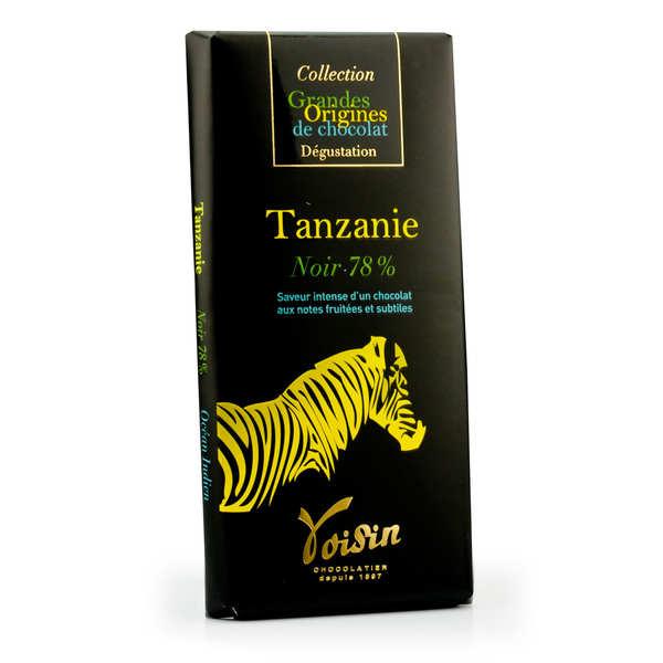 Voisin chocolatier torréfacteur Tablette chocolat noir Tanzanie 78% - Voisin - 10 tablettes de 100g