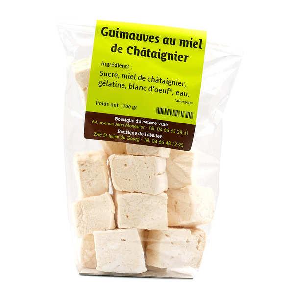 L'atelier du miel et de la châtaigne Guimauves au miel de châtaignier - Sachet 100g
