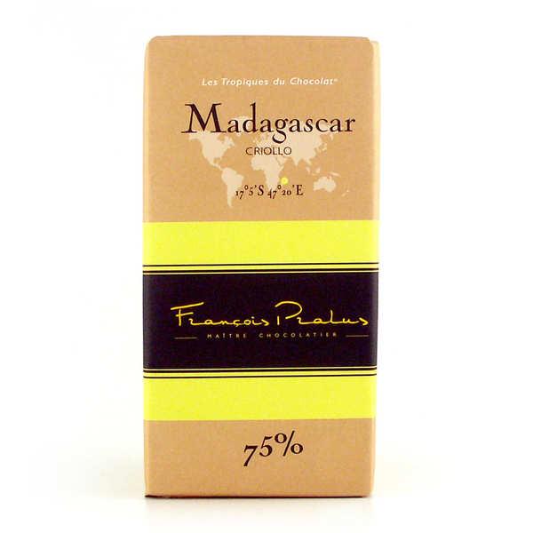 Chocolats François Pralus Tablette de chocolat noir criollo 75% Madagascar - Tablette 100g