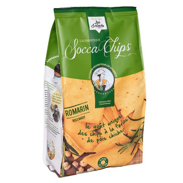 Socca Chips® - Chips de pois chiche au romarin - 3 sachets de 120g