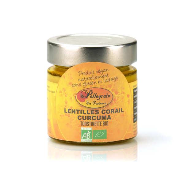 Pellegrain en Provence Toastinette lentilles corail au curcuma bio à tartiner - Verrine 100g