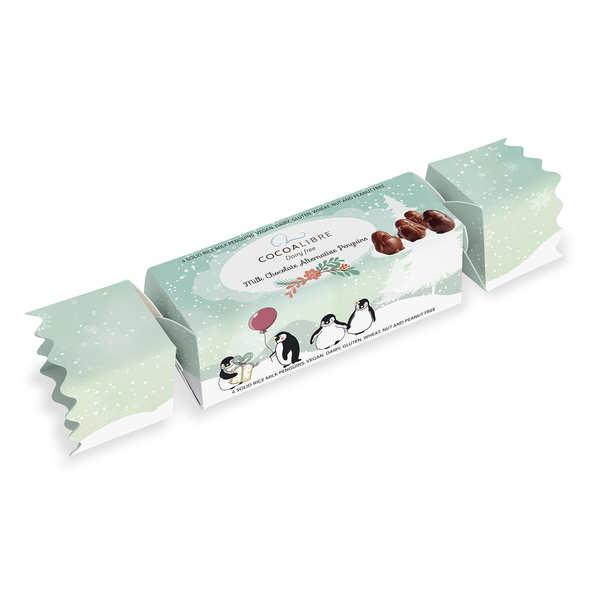 CocoaLibre Petits pingouins au chocolat au lait vegan et sans lactose - Pingouin au chocolat au lait 50g