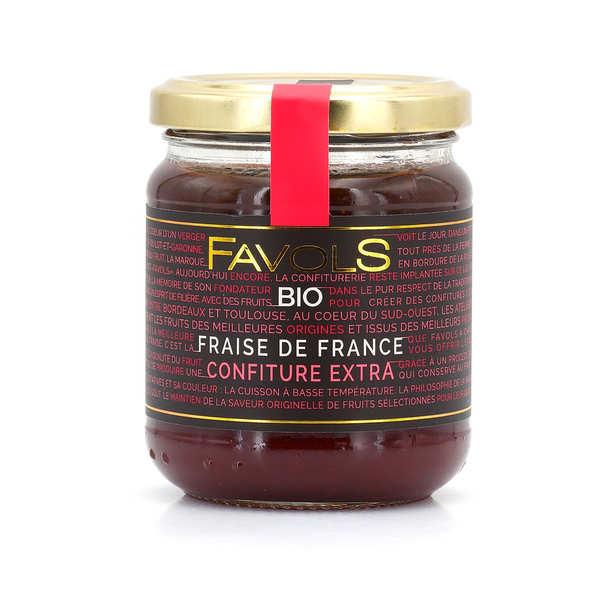 Favols Confiture de fraises d'Aquitaine bio - Pot 220g