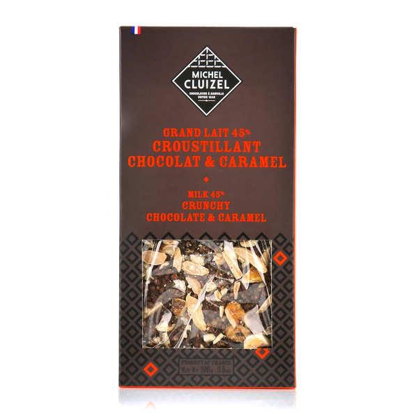 Michel Cluizel Tablette chocolat lait 45% croustillant chocolat caramel - Tablette 100g