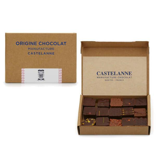 Castelanne Coffret assortiment maison Castelanne - 16 chocolats - 130g - 16 chocolats