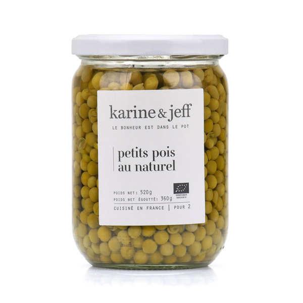 Karine & Jeff Petits pois au naturel bio - 6 bocaux de 520g