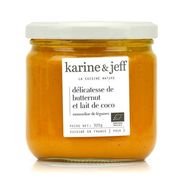 Karine & Jeff Purée de butternut et lait de coco bio - Bocal 320g