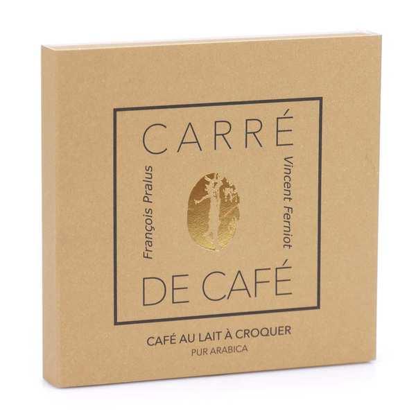Chocolats François Pralus Carré de café® lait - Lot de 3 carrés 50g