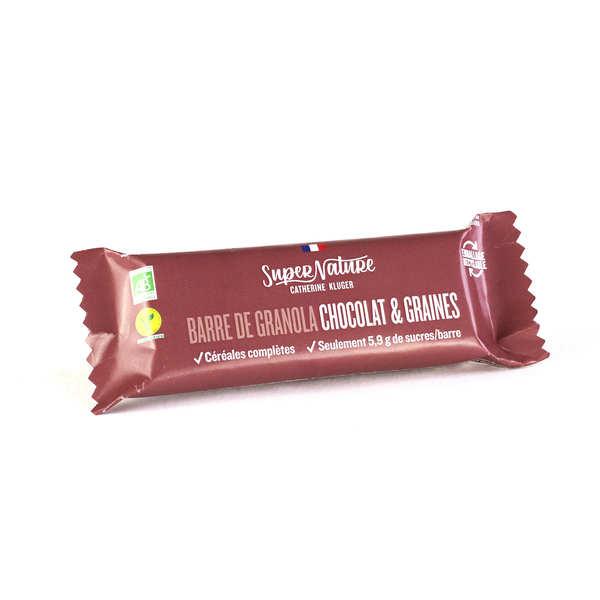 Granola Catherine Kluger Barre de granola au chocolat et aux graines bio - Barre 40g