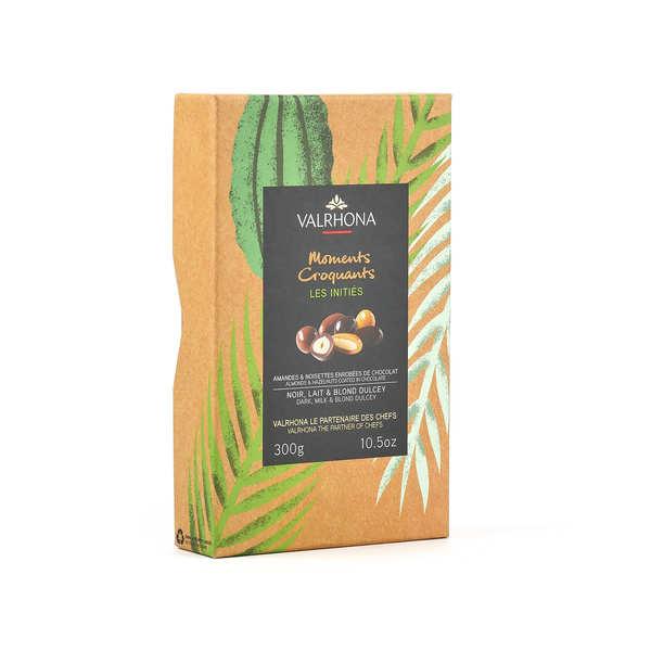 Valrhona Coffret amandes et noisettes au grand cru chocolat lait et dulcey - Valrhona - Coffret 250g