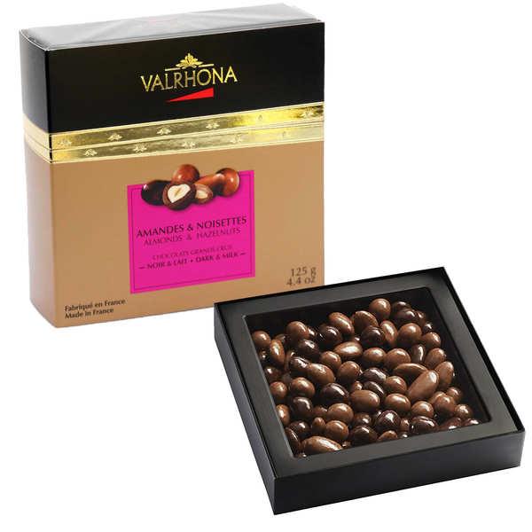 Valrhona Coffret amandes et noisettes au grand cru chocolat noir et lait - Valrhona - Coffret 125g