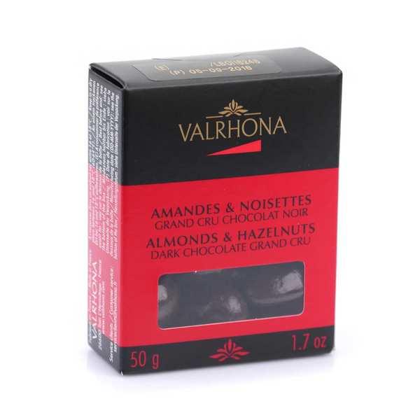 Valrhona Amandes et noisettes au grand cru chocolat noir - Valrhona - 5 boîtes de 50g