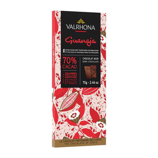 Valrhona Tablette de chocolat noir Guanaja 70% éclats de cacao - Valrhona - 3 tablettes de 85g