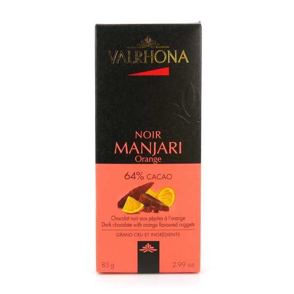 Valrhona Tablette de chocolat noir Manjari 64% et orange - Valrhona - Tablette 85g