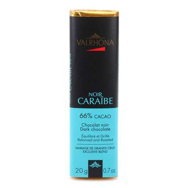 Valrhona Bâton de chocolat noir Caraïbe 66% - Valrhona - 10 bâtons de 20g
