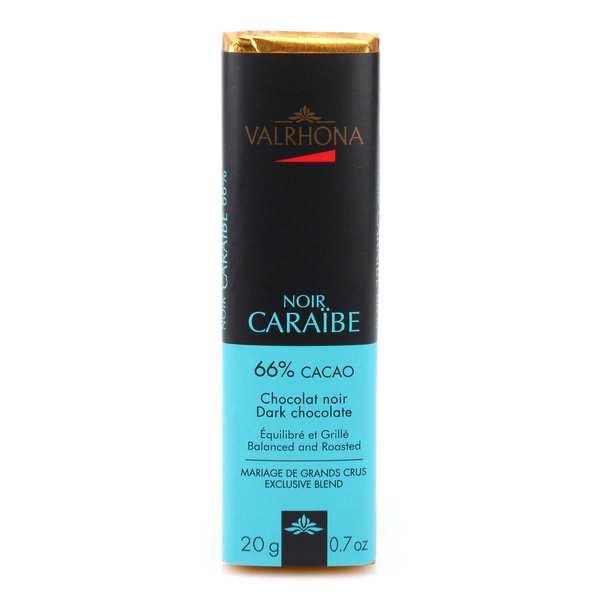 Valrhona Bâton de chocolat noir Caraïbe 66% - Valrhona - 5 bâtons de 20g