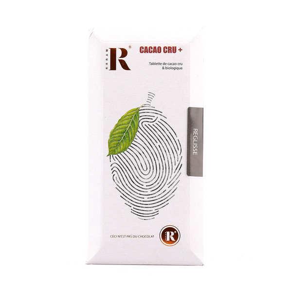 Rrraw Tablette de chocolat cru (77%) et réglisse bio - Tablette 45g