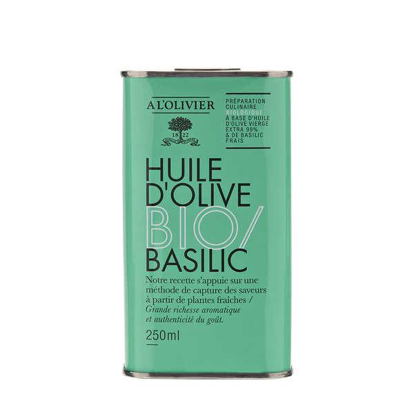 A L'Olivier Huile d'olive vierge extra au basilic bio - A l'Olivier - Bidon 250ml