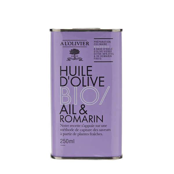 A L'Olivier Huile d'olive vierge extra ail et romarin bio - A l'Olivier - Bidon 250ml