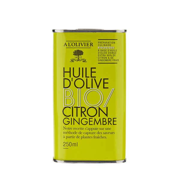 A L'Olivier Huile d'olive vierge extra citron et gingembre bio - A l'Olivier - Bidon 250ml