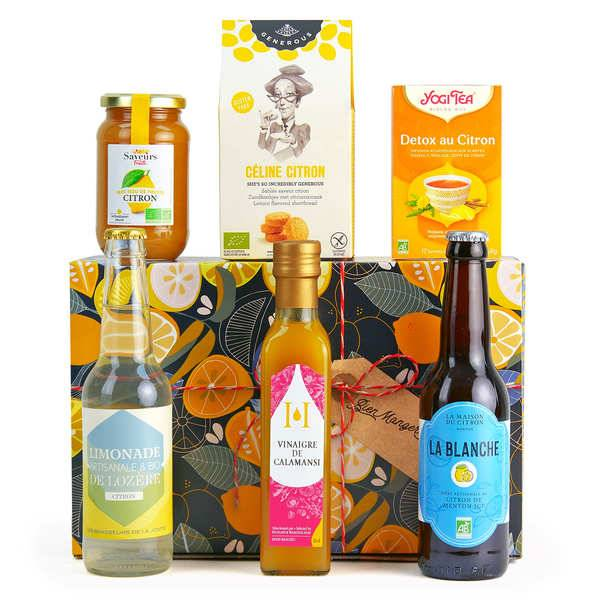BienManger paniers garnis Coffret cadeau citron gourmand - Coffret cadeau
