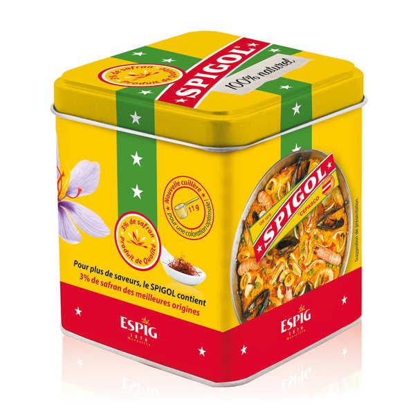 Spigol® - mélange d'épices pour paëlla dont 3% de safran - Boite métal - 14 doses
