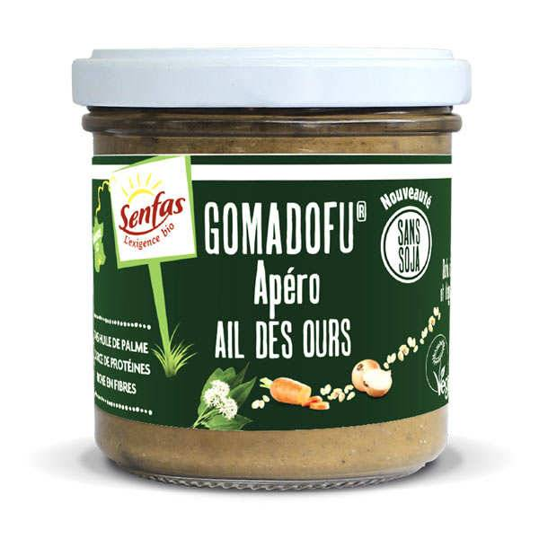 Senfas Gomadofu® à l'ail des ours bio - Tartinable à base de sésame - Verrine 140g