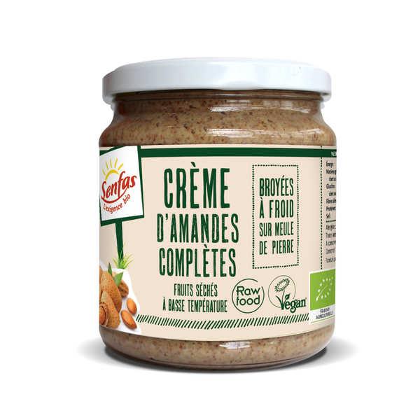 Senfas Crème d'amandes complètes bio - Pot 300g